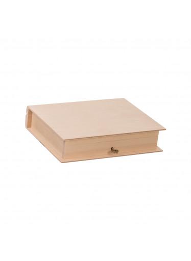 ČistéDřevo Dřevěná krabička kniha na klíč