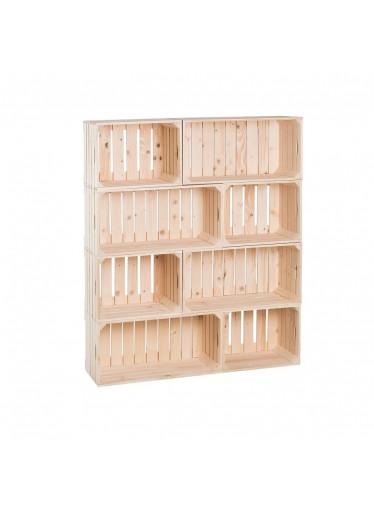 ČistéDřevo Dřevěné bedýnky knihovna 120 x 100 x 30 cm