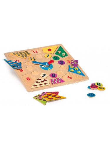 Small foot Dřevěné vkládací výukové puzzle - nauč se hodiny