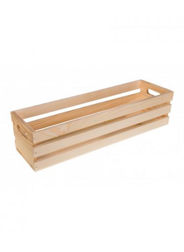 ČistéDřevo Dřevěná bedýnka květináč - 50cm
