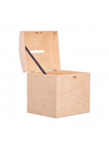 ČistéDřevo Dřevěná truhla XIV pokladnička na klíč