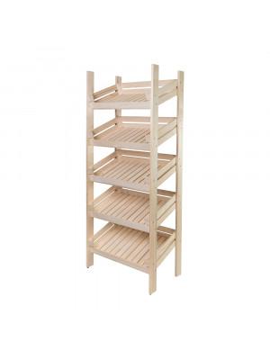 ČistéDřevo Regál dřevěný r5oz 180 x 74 x 46 cm