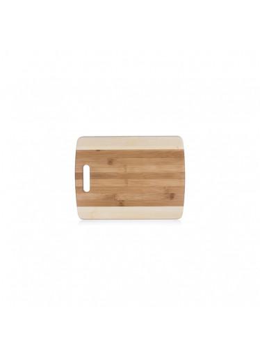 ČistéDřevo Dřevěné bambusové prkénko s rukojetí - 33 x  25 cm