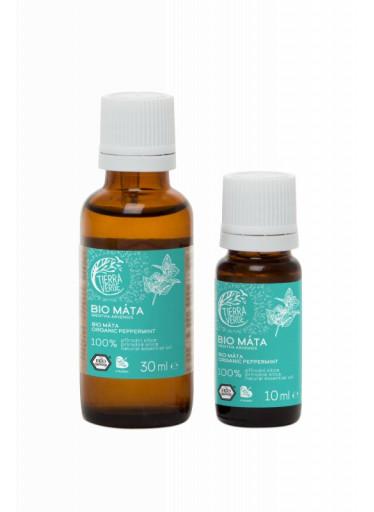 Tierra Verde Silice Máta BIO (10 ml) - podpoří dýchací cesty a soustředění