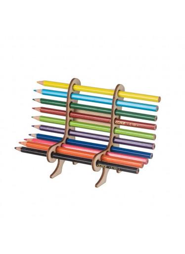 ČistéDřevo Dřevěná lavička na pastelky a tužky