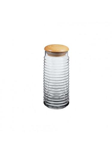 ČistéDřevo Skleněná dóza s dřevěným víčkem - 1,5 l