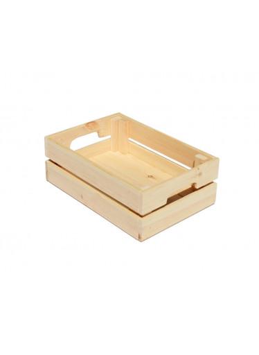 ČistéDřevo Dřevěná bedýnka 32 x 22 x 11 cm