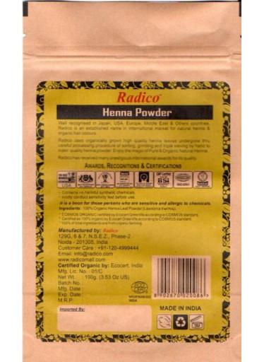 Radico Henna BIO (100 g) - pro zdraví, lesk a sílu