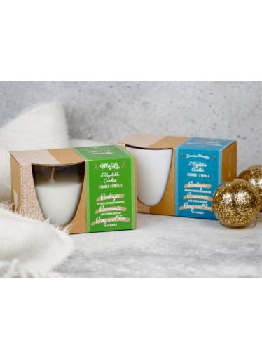 The Greatest Candle Sada - 1x svíčka (130 g) + 2x náplň - borůvky - doma si vyrobíte dvě další svíčky