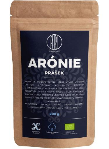 BrainMax Pure Arónie - černý jeřáb BIO prášek, 200 g