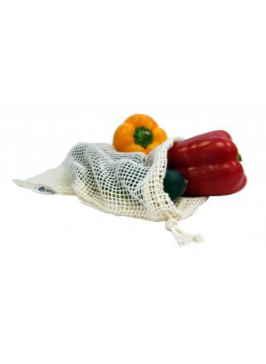 Casa Organica Síťovinový sáček - malý (balení po 3 ks) - z biobavlny, s utahovací šňůrkou