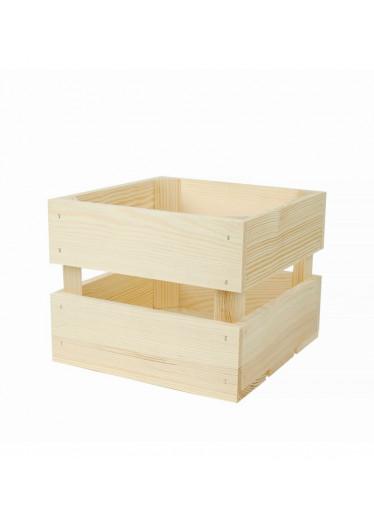 ČistéDřevo Dřevěná bedýnka 20 x 20 x 16 cm