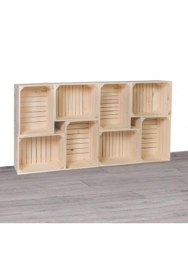 ČistéDřevo Dřevěné bedýnky knihovna I 70x140x24 cm