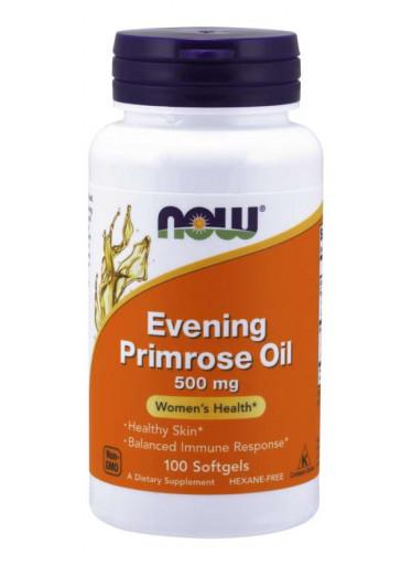 NOW® Foods NOW Evening Primrose Oil (Pupálkový olej), 500 mg, 100 sofgel kapslí