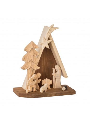 ČistéDřevo Dřevěný betlém XI