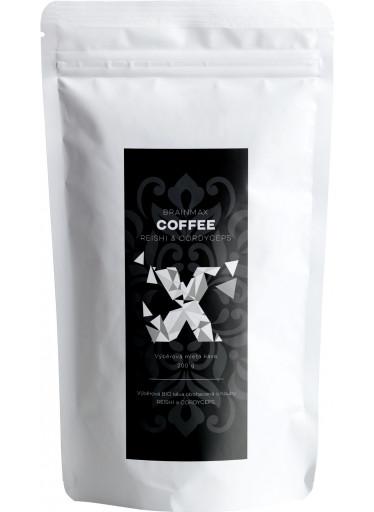 BrainMax Coffee - BIO Káva s medicinálními houbami Reishi & Cordyceps, 200g
