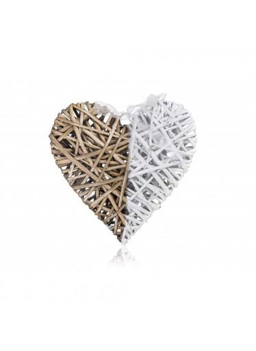 ČistéDřevo Dekorativní srdce dvoubarevné HOME DECOR - 28 x 28 cm
