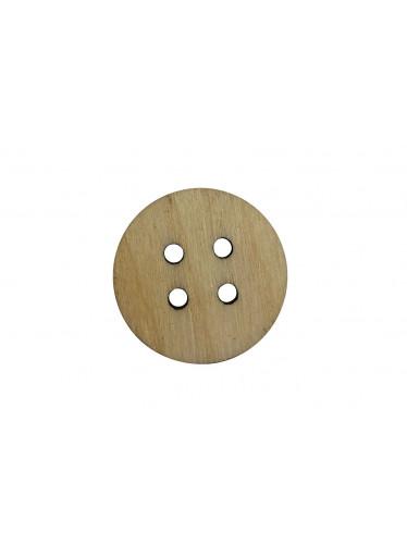 ČistéDřevo Dřevěný kulatý knoflík se čtyřmi dírkami
