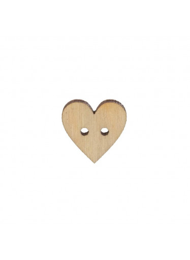 ČistéDřevo Dřevěný knoflík srdce malé 1,5 cm