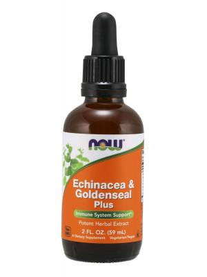 NOW Echinacea & Goldenseal Plus (Třapatka & Vodilka kanadská), 59 ml