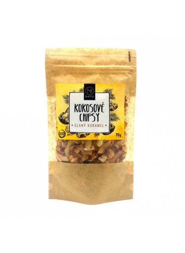 NATU Kokosové chipsy slaný karamel BIO 70 g