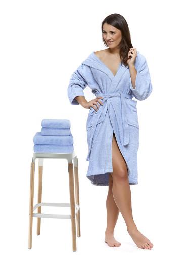 Sada 06 Azzurro Cielo župan + osuška + ručníky