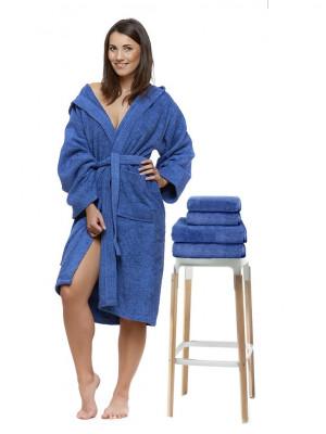 Sada 19 Zaffiro župan s výšivkou + osuška + ručníky