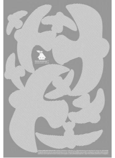 Ptačí siluety na sklo 9 ks - bílé s průhlednými pruhy